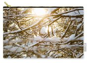 Snow Covered Branches Carry-all Pouch