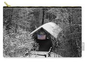 Snow Covered Covered Bridge  Carry-all Pouch