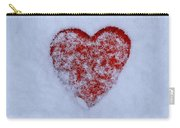 Snow-covered Heart Carry-all Pouch