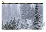 Snow Covered Mountain Ash Carry-all Pouch