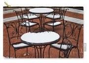 Snow Covered Patio Chairs And Tables Carry-all Pouch