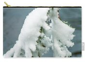 Snow Covered Pine Tree Branch Carry-all Pouch
