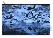 Snow Covered River Rocks Carry-all Pouch