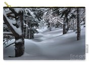Snow Covered Trail Carry-all Pouch