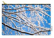 Snow Covered Tree Limb Carry-all Pouch