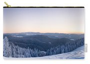 Snow Covered Trees On A Hill, Belchen Carry-all Pouch