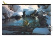 Snow Covered Waterscape Carry-all Pouch