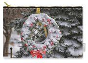 Snow Covered Wreath Carry-all Pouch