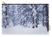 Snow-dappled Woods Carry-all Pouch