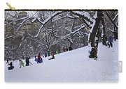 Snow Day In The Park Carry-all Pouch by Madeline Ellis