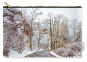 Snow Dusted Colorado Scenic Drive Carry-all Pouch