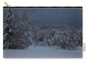Snow Falling In A Forest Carry-all Pouch