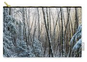 Snow Falls On The Alders  Astoria Carry-all Pouch