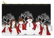Snow Family 2 Square Carry-all Pouch