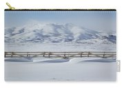 Snow Fence Sculpted Snow Carry-all Pouch
