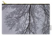 Snow Frosted Branches Carry-all Pouch
