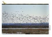Snow Geese Taking Off At  Loess Bluffs National Wildlife Refuge Carry-all Pouch