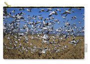 Snow Goose Flock Taking Off Carry-all Pouch