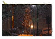 Snow In Downtown Grants Pass - 5th Street Carry-all Pouch
