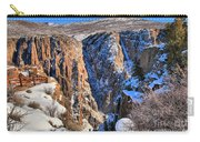 Snow In The Black Canyon Carry-all Pouch