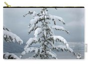 Snow Laden Tree Carry-all Pouch