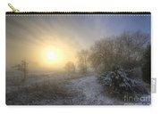 Snow Landscape Sunrise Carry-all Pouch