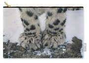 Snow Leopard Feet Carry-all Pouch
