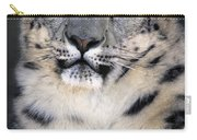 Snow Leopard Portrait Endangered Species Wildlife Rescue Carry-all Pouch