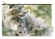Snow Leopard Pose Carry-all Pouch