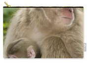 Snow Monkeys, Mother With Her Baby Carry-all Pouch