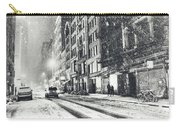Snow - New York City - Winter Night Carry-all Pouch