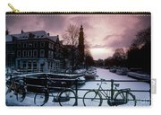 Snow On Canals. Amsterdam, Holland Carry-all Pouch