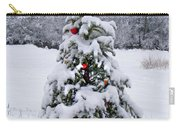 Snow On Christmas Tree 2 Carry-all Pouch