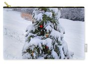 Snow On Christmas Tree Carry-all Pouch