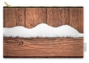 Snow On Fence Carry-all Pouch by Tom Gowanlock