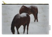 Snow On Horses Carry-all Pouch