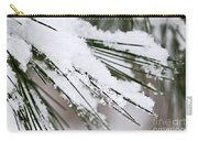 Snow On Pine Needles Carry-all Pouch