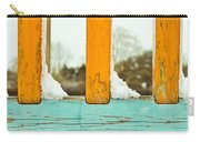Snow On Railings Carry-all Pouch