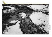 Snow On Rock Bw Carry-all Pouch