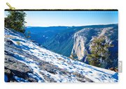Snow On Sentinel Dome In Yosemite Np-ca Carry-all Pouch