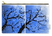 Snow On The Blue Cherry Blossom Tree Carry-all Pouch