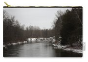 Snow On The Manistee River Carry-all Pouch