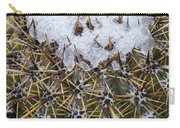 Snow On Top Of Small Saguaro Cactus Carry-all Pouch