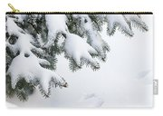 Snow On Winter Branches Carry-all Pouch by Elena Elisseeva