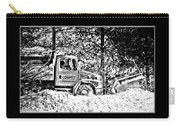 Snow Plow In Black And White Carry-all Pouch
