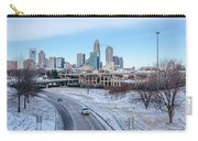 Snow Plowed Public Roads In Charlotte Nc Carry-all Pouch