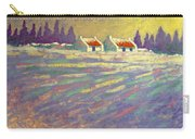 Snow Scape County Wicklow Carry-all Pouch by John  Nolan