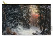 Snow Scene In The Black Forest Carry-all Pouch