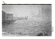 Snow Storm In Bass Harbor On Mount Desert Island Maine Carry-all Pouch