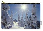 1m4882-snow Laden Tree Sunburst Carry-all Pouch